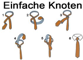 männerseiten krawatte binden